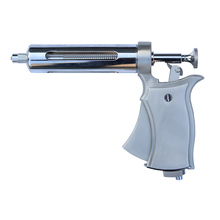 50ml Revolver Veterinary Syringe Gun / Metal Automatic Continuous Injector Gun / Automatic livestock Vaccine injection syringe