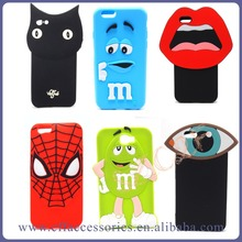 Funny Cartoon 3D lovely Soft Ear Silicone Phone Case Cover for iphone 6 6S plus