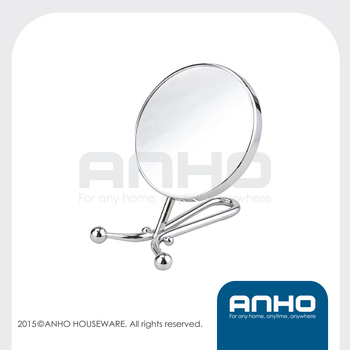 Metal cosmetic mirror, vanity mirror, table mirror, makeup mirror