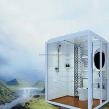 Hotel use prefabricated modular FRP bathroom design wc toilet shower POD