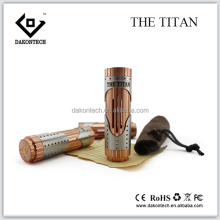 Vaping wholesale full copper Titan 26650 mechanical mod top quality e cig china