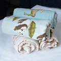 Organic Cotton Cute Muslin Swaddle Blankets For Baby