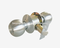 Cylindrical knobset door lock for Entrance stainless steel cerradura KY587ET-SS, cheap lock
