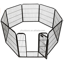 Metal Pet Dog Puppy Cat Exercise Fence Barrier Playpen Kennel