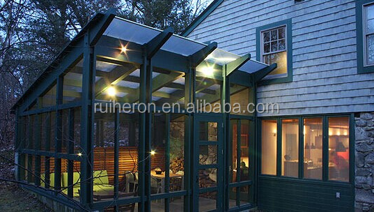 2016 New customized aluminium design aluminium sunroom with high quality