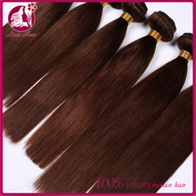 Cheap 6A High Grade Premium Quality Chocolate Brown Hair Color #4 straight Wholesale Virgin Brazilian Human Hair Weaving