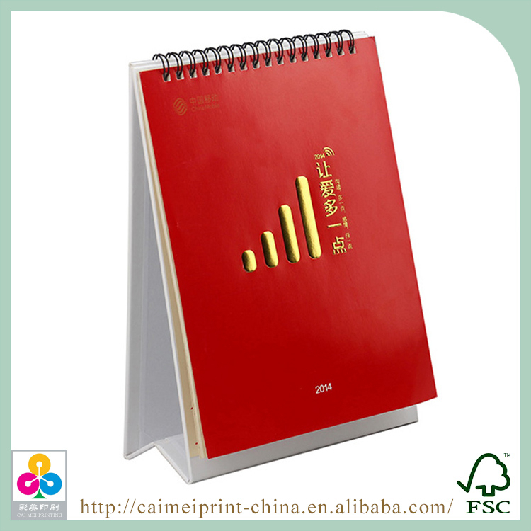 wholesale cheap custom spiral bound calendar printing