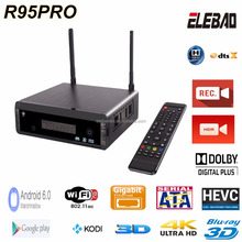 "r95pro realtek rtd1295 Android TV Box with HD PVR recording built in Gigabit Lan AC wifi USB-C USB3.0 3.5"" Sata HDD"