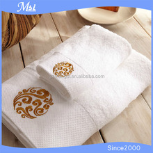 Promotional logo embroidery plain face towel/wash cloth