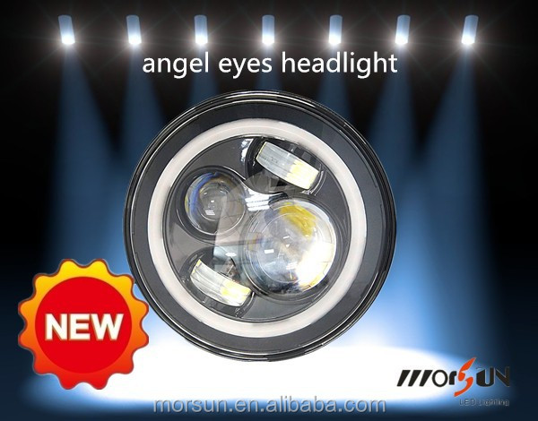 engine automobiles car accessory 7inch LED Round Angel Eyes Headlights tuning light