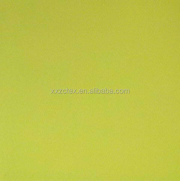 CVC cotton polyester Flame retardamt high visibility yellow satin fabric