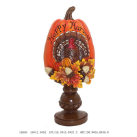 Factory Direct Resin Happy Harvest Decorative Pumpkin for Thanksgiving
