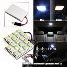 Bright White SMD 12 LED Dome Map Light with T10 and Festoon Adapters