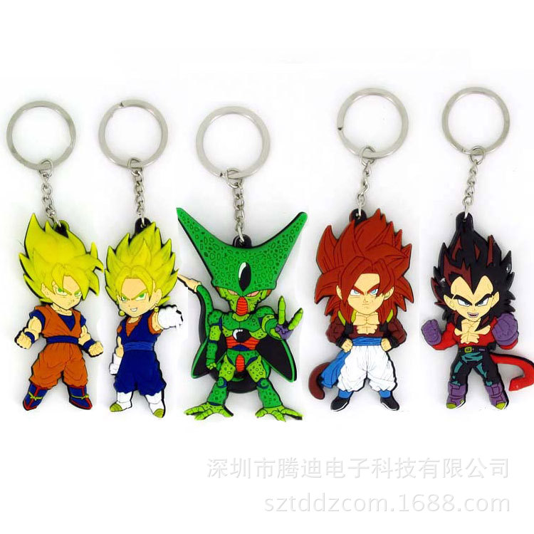 Papular Cartoon Dragon Balls PVC Key chain Bags hang