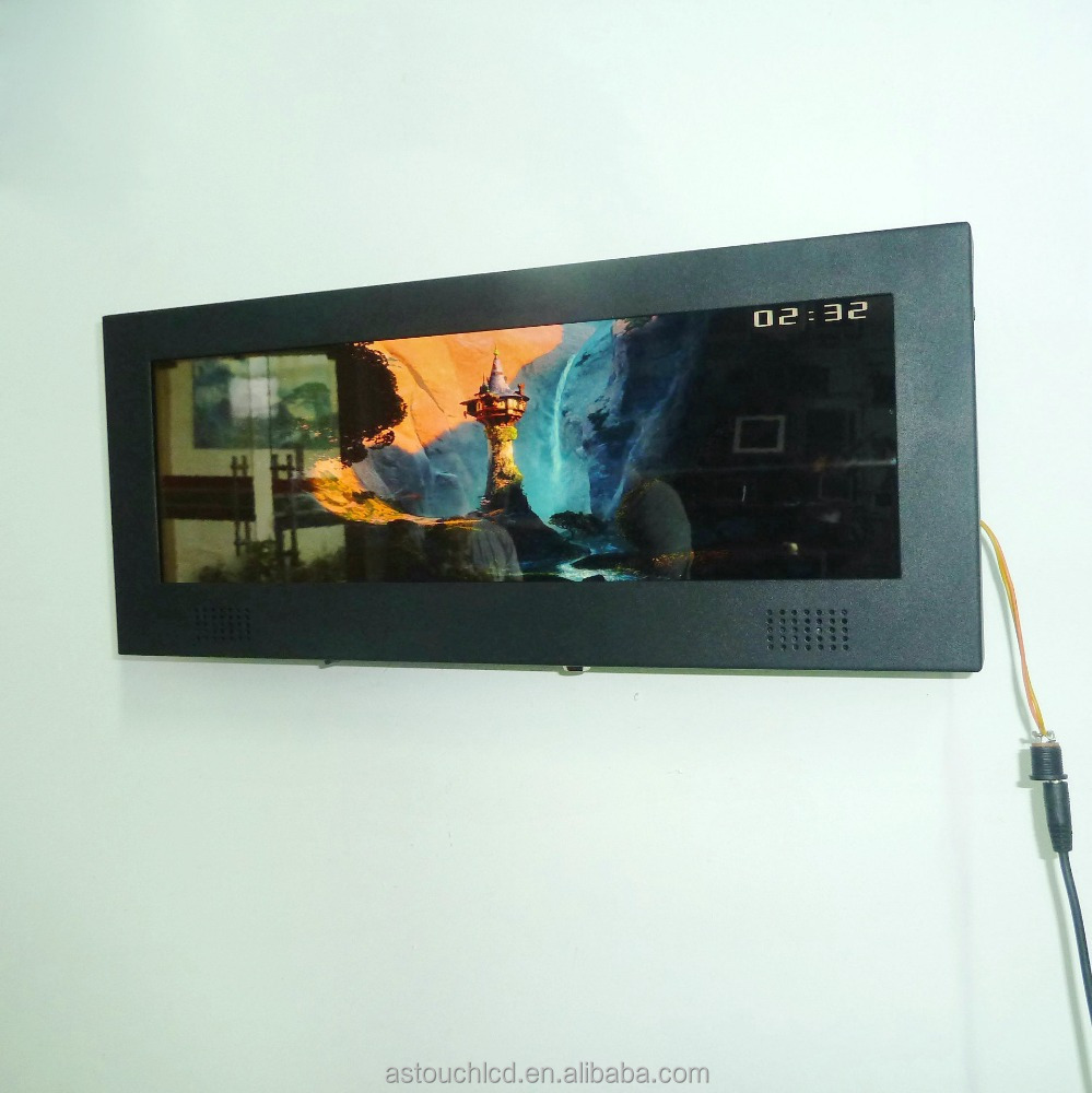"Ultra wide lcd LVDS signage 14.9"" bar type display"