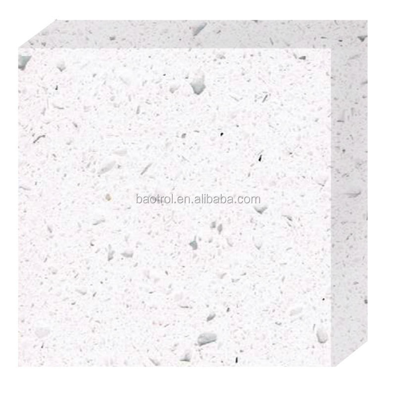 Hard enough 15mm artificial quartz/quartz stone slab/colored quartz stone