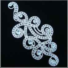 Hot sale Crystal appliques for wedding dress