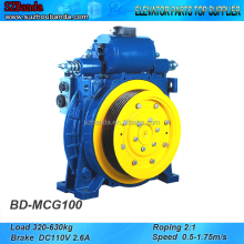 Elevator Gearless Traction Machine MCG100, Lift Motor