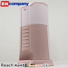 Round Pink ABS Trash Can Home Use Pedal Trash Bin