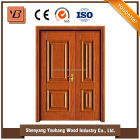new design mom and son steel door made in china factory