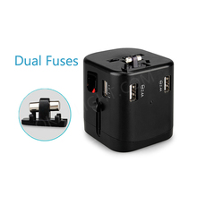 Hot selling alibaba Amazon universal world wide travel charger adapter plug with usb mobile phone charger adapter