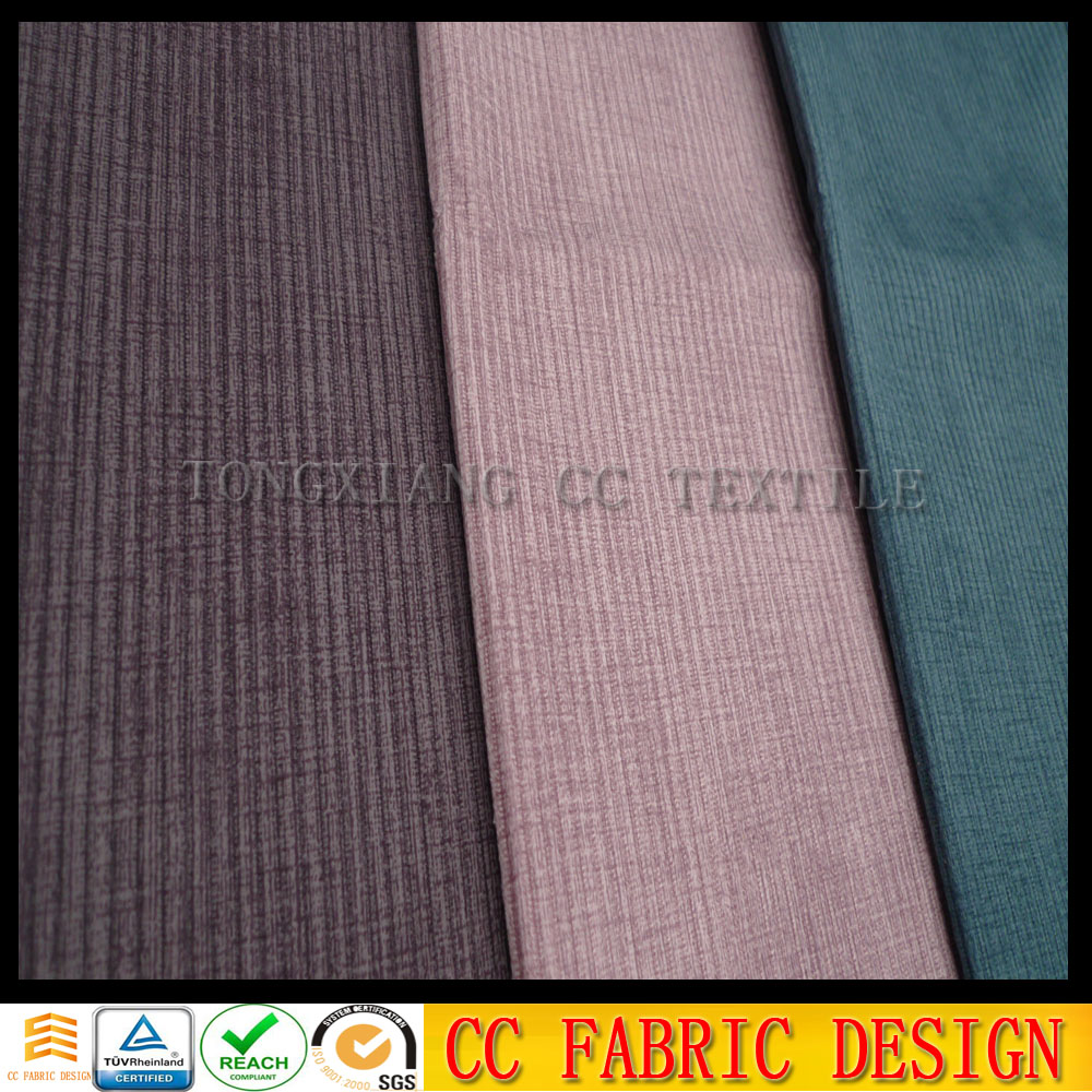 knitt brush velboa fabric with printing for sofa, furniture, home textile/stripe velboa