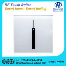 Golden/Black/White wall switch AU/US/EU/UK standard wifi light switch 5mm Touch Crystal Panel & ABS material cover switch