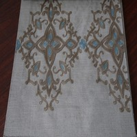 Thermal Canada embroidered linen curtain fabric for ikea draperies