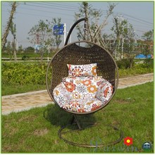 Hot Sell Outdoor indoor Wicker hanging egg Chair rattan swing Lounge Chair/DW-CHY043