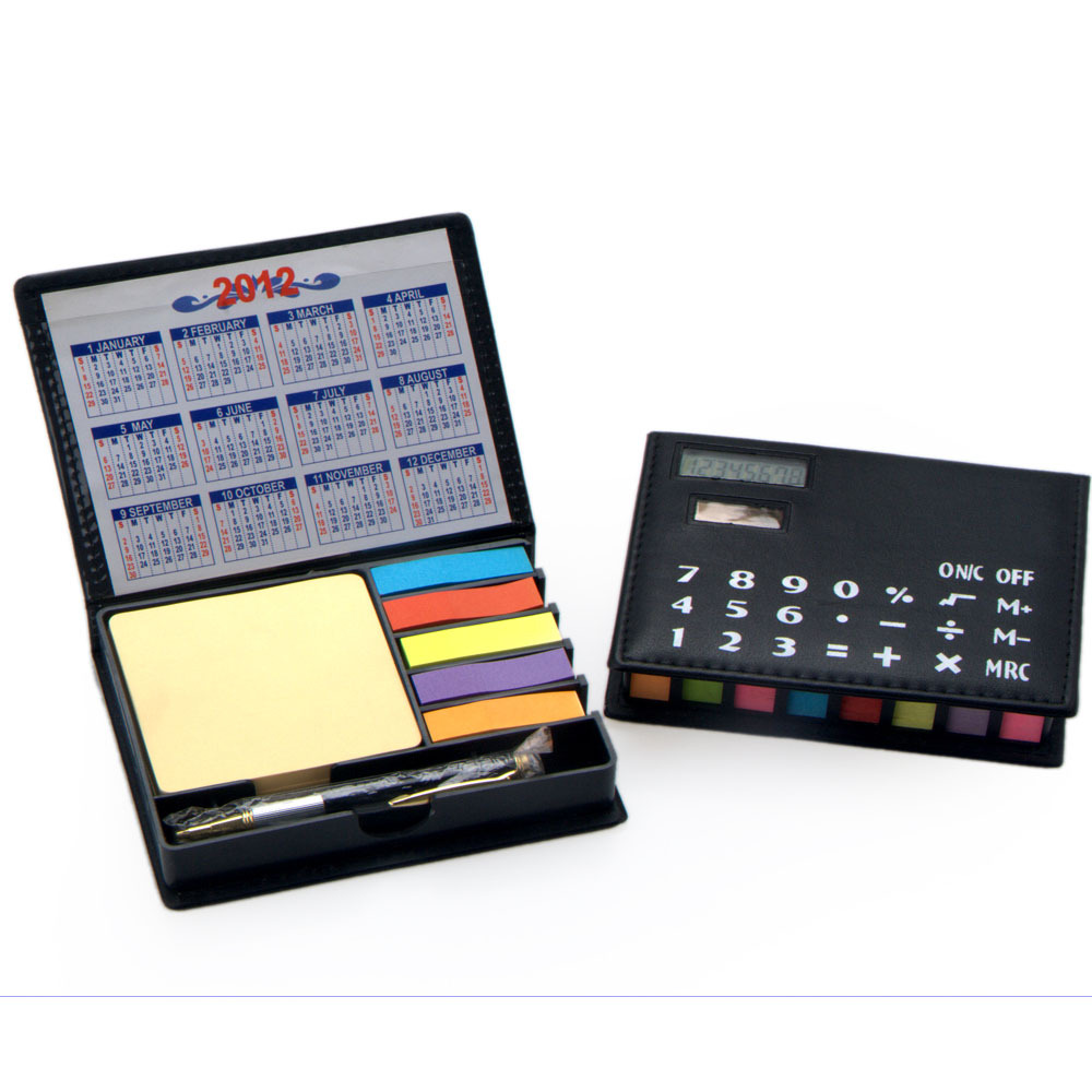 Multi Function Calculator with Sticker, 2015 Hot Sell PVC Calculator, 8 Digit Leather Calculator