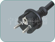 IP44 European water proof plug power cord cable