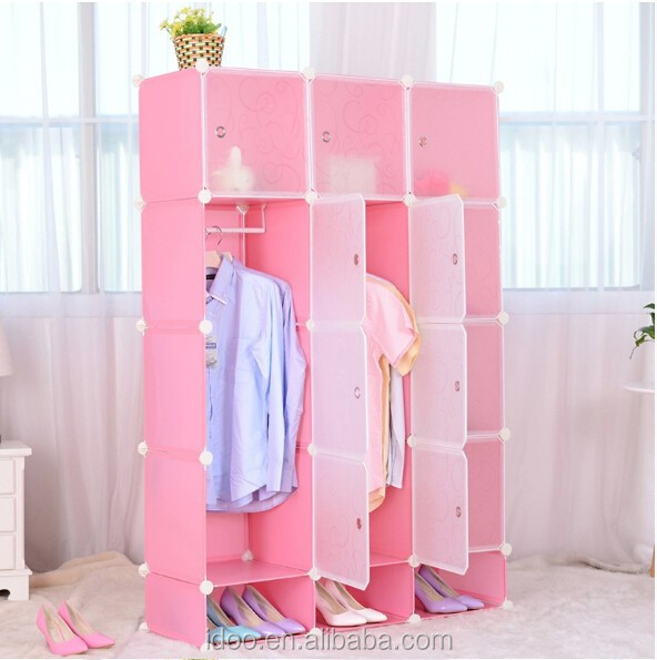 12 cubes DIY clothes bedroom furniture cupboard designs with shoe cabinets on the bottom (FH-AL00742-15 )