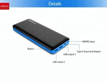2018 hottest trending product Quick charge 3.0 power bank, Type C fast charging charger power