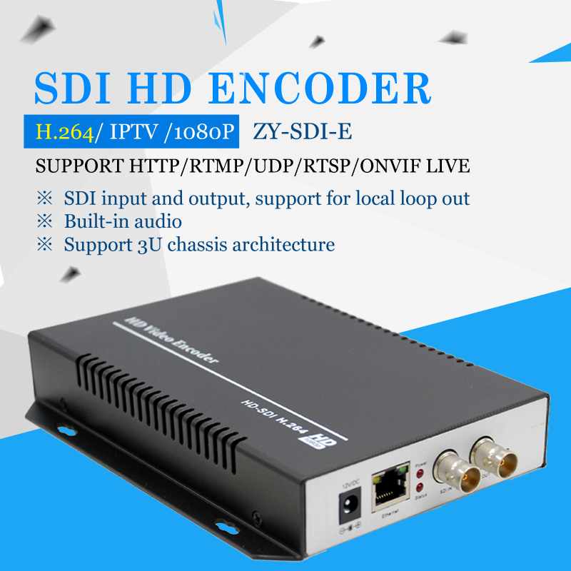 support AAC / G.711 Advanced Audio Coding format quality HD SDI To Ethernet