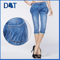 2015 Summer Girls jeans half pants with Harlan style pockets