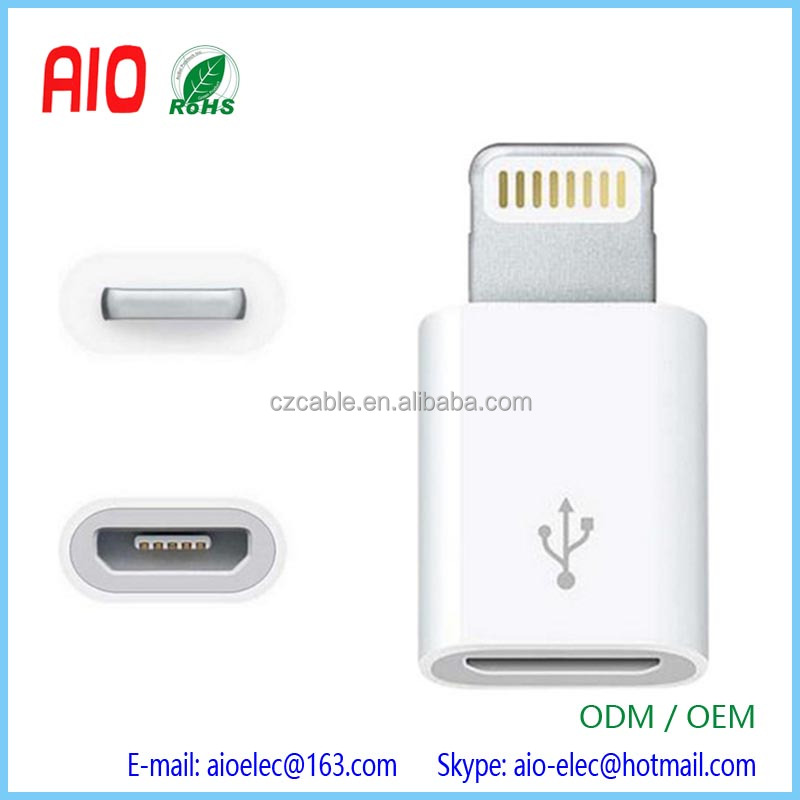 Micro USB female to Lightning 8Pin Male Cable Adapter Charging Data Sync Converter for iphone 5/5s 6/6s 6/6s plus