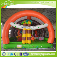 Hot sale giant new large forest inflatable fun city games for kids