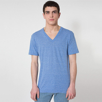 wholesale high quality t shirts deep v neck compress t-shirt