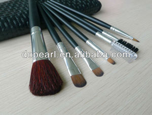 7pcs high quality popular makeup cosmetic goat hair brush set