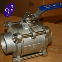 Whole Size Inside three piece stainless steel ball valve