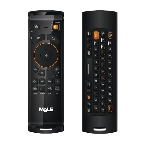 New producs Mele F10 Deluxe 2.4GHz Fly Air Mouse Wireless QWERTY Keyboard Remote Control with IR Learning Function