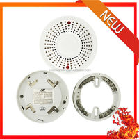 24VDC 220VAC CE Approved Novelty Conventional Combined Heat And Smoke Detector