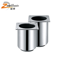 foot metal cylinder round metal iron sofa furniture bases short furniture leg best decorative round chromed metal feet for sofa