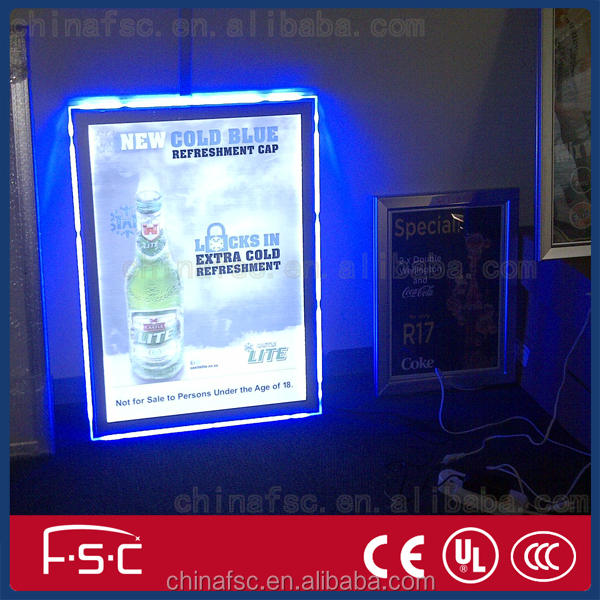 China Factory New Style Advertising LED Board Magnetic Light Display Boxes
