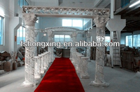 India crystal fiber mandap,crystal wedding mandap pillar decoration