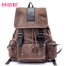 Guangzhou factory blank drawstring canvas backpack korean style big custom waterproof canvas laptop wholesale school back pack