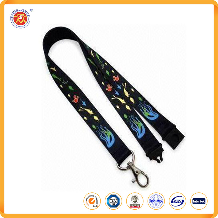 Fashoin customized logo polyester lanyard card hold