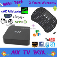 Amlogic mx quad core mx android4.2 tv box webcam skype live chat with wireless air mouse RII i8