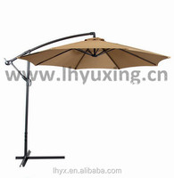10 feet garden banana hanging umbrella 3m patio offset umbrella with cross base
