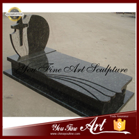 Natural China Black Granite Tombstone China Gravestone